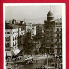 Postales: VALENCIA, PLAZA EMILIO CASTELAR Y CALLE DE LAS BARCAS, FOTOGRAFICA, P50840. Lote 25930436