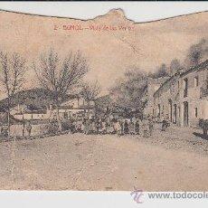 Postales: ANTIGUA POSTAL BUÑOL VISTA DE LAS VERTAS EDICION AYUNTAMIENTO 1917. Lote 26174274