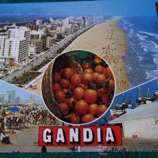 Postales: VALENCIA-GANDIA-70'. Lote 26291110