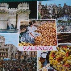 Postales: VALENCIA-BELLEZAS DE LA CIUDAD-70'. Lote 26291494