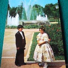 Postales: VALENCIA-70'-PAREJITA TIPICA-. Lote 26291646