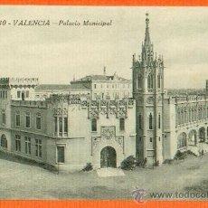 Postales: VALENCIA - PALACIO MUNICIPAL - Nº 10 FOTOTIPIA CASTAÑEIRA ALVAREZ Y LEVENFELD - SIN CIRCULAR. Lote 26353640