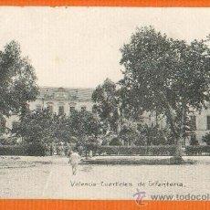 Postales: VALENCIA - CUARTELES DE INFANTERIA - FOTOGRAFIA J.F. Nº 3 - SIN CIRCULAR. Lote 26354232