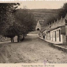 Postales: BENASAL (CASTELLÓN).- FUENTE EN-SEGURES- PASEO DE LA FUENTE. Lote 26996428