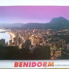Postales: POSTAL BENIDORM Nº 56- VISTA PANORAMICA AL ATARDECER - SIN CIRCULAR. Lote 27075241