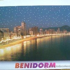 Postales: POSTAL BENIDORM Nº 15 - PLAYA DE LEVANTE AL ATARDECER - SIN CIRCULAR. Lote 27075279