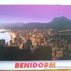 Postales: POSTAL BENIDORM Nº 56 - VISTA PANORAMICA AL ATARDECER - SIN CIRCULAR. Lote 27075516
