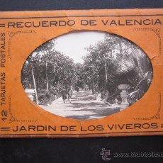 Postales: VALENCIA - JARDIN DE LOS VIVEROS - 12 POSTALES FOTOGRAFICAS - JDP. Lote 27172332