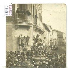 Postales: (PS-22731)POSTAL FOTOGRAFICA DE SAX(ALICANTE)-PROCESION DE SAN BLAS. Lote 27176434