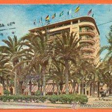 Postales: ALICANTE - EXPLANADA DE ESPAÑA Y HOTEL CARLTON - Nº 4101 ED. AGATA - PAPELERIA IBAÑEZ ALICANTE. Lote 27189863