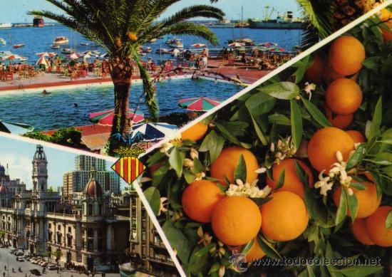 VALENCIA SERIE 19 Nº 233 POSTALES DURÁ VELASCO ESCRITA CIRCULADA CON SELLOS (Postales - España - Comunidad Valenciana Moderna (desde 1940))