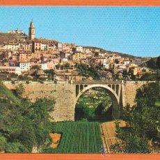 Postales: BOCAIRENTE -VALENCIA - VISTA PARCIAL Y PUENTE BADIA - Nº 3 EXCL. VIUDA DE J. BERNAT. Lote 27359950