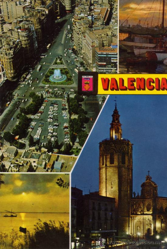 VALENCIA Nº 1366 DIVERSOS ASPECTOS ESCRITA CIRCULADA SELLO EDICIONES FISA (Postales - España - Comunidad Valenciana Moderna (desde 1940))