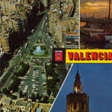 Postales: VALENCIA Nº 1366 DIVERSOS ASPECTOS ESCRITA CIRCULADA SELLO EDICIONES FISA . Lote 27374470