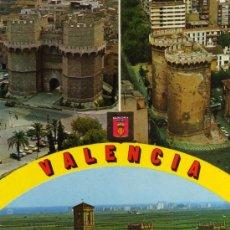 Postales: VALENCIA Nº 1364 DIVERSOS ASPECTOS A. SUBIRATS ESCRITA CIRCULADA SELLO. Lote 27872965