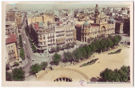 VALENCIA: PLAZA DEL CAUDILLO. EDIFICIO DE CORREOS. E. CRIS-ADAM. NO CIRCULADA (AÑOS 50) (Postales - España - Comunidad Valenciana Antigua (hasta 1939))