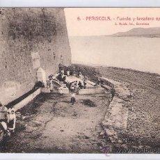 Postales: PEÑISCOLA - 6 - FUENTE Y LAVADERO EXTRA MUROS - ROISIN - (7516). Lote 28272335