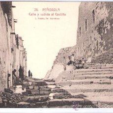Postales: PEÑISCOLA - 26 - CALLE Y SUBIDA AL CASTILLO - ROISIN - (7536). Lote 28272879