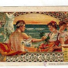 Postales: POSTAL DE VALENCIA EXPOSICIÒ REGIONAL VALENCIANA 1909. Lote 28375532