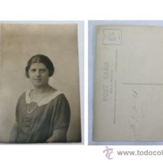 Postales: UNA CHICA DE VALENCIA - FOTOGRAFIA FORMATO POSTAL PRINCIPIOS DEL SIGLO XX. Lote 28715365