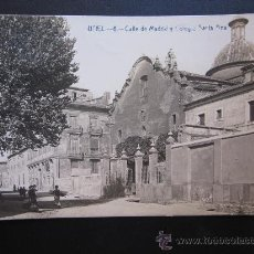 Postales: UTIEL - POSTAL FOTOGRAFICA - CALLE DE MADRID Y COLEGIO DE SANTA ANA. Lote 28873840