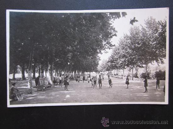UTIEL - POSTAL FOTOGRAFICA - PASEO DE LAS DELICIAS (Postales - España - Comunidad Valenciana Antigua (hasta 1939))