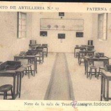 Postales: PATERNA (VALENCIA).- REGIMIENTO DE ARTILLERIA Nº 17- NAVE DE LA SALA DE TRANSMISIONES. Lote 28936500