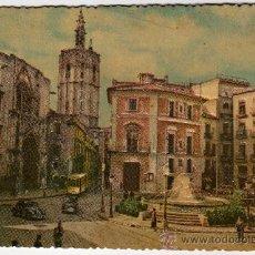 Postales: PRECIOSA POSTAL CON RELIEVES - VALENCIA - PLAZA DE LA VIRGEN . Lote 29014621