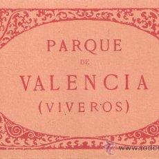 Postales: VALENCIA - PARQUE ( VIVEROS)- BLOCK COMPLETO 24 POSTALES -VER FOTOS ADICIONALES-(B-102). Lote 29157002