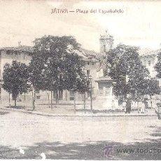 Postales: PS1896 JÁTIVA 'PLAZA DEL ESPAÑOLETO'. EDICIÓN V. LÓPEZ. SIN CIRCULAR. Lote 29435579