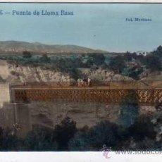 Postales: ONTENIENTE. FOTO MARTINEZ LA INDUSTRIAL FOTOGRAFICA. VALENCIA. PUENTE DE LLOMA RASA.. Lote 29597148