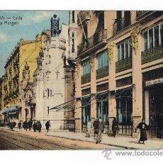 Postales: TARJETA POSTAL DE VALENCIA CALLE PI Y MARGALL, COLOREADA. Lote 29921814