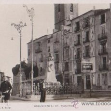 Postales: VILLAJOYOSA MONUMENTO AL DR ESQUERDO,ORIOL EDICION F MARCET Y E SOLER. Lote 29994448