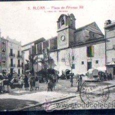 Postales: TARJETA POSTAL ALCIRA, VALENCIA, PLAZA DE ALFONSO XII, ROISIN. Lote 30080740
