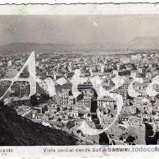 Postales: BONITA POSTAL - ALICANTE - VISTA PARCIAL DESDE SANTA BARBARA. Lote 30202105