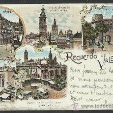 Postales: RECUERDO DE VALENCIA - CIRCULADA EN 1902 - (8674). Lote 30257572