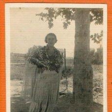 Postales: POSTAL AÑO 1929 DAMA DE LA EPOCA EN LA GODELLETA ( VALENCIA ) 12 X 9 CM. SIN CIRCULAR. Lote 30272736