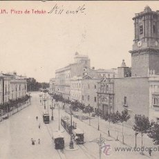 Postales: AÑO 1919: PLAZA DE TETUAN. BONITA TARJETA POSTAL THOMAS CIRCULADA A HOLANDA. MARCA RECTANGULAR.. Lote 30309774