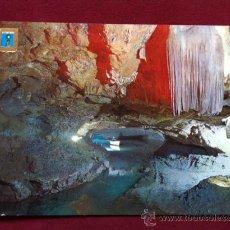 Postales: POSTAL VALL D'UXO - GRUTA DE SAN JOSE - CASCADA LA MORENETA Y LAGO DIANA , AÑOS 70 , . Lote 30380009