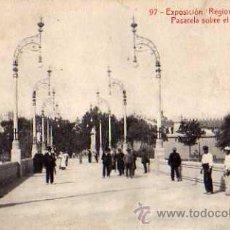 Postales: EXPOSICIÓN REGIONAL VALENCIANA Nº 97 PASARELA SOBRE EL RÍO TURIA THOMAS SIN CIRCULAR . Lote 30528292