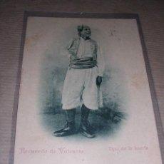 Postales: VALENCIA ,RECUERDO DE VALENCIA ,TIPO DE LA HUERTA POSTAL CIRCULADA 1901 -14X9 CM.. Lote 30538526