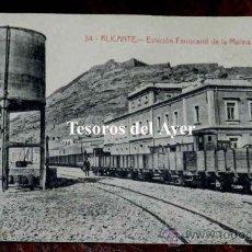 Postales: ANTIGUA POSTAL DE ALICANTE, ESTACION FERROCARRIL DE LA MARINA, N. 34, FOT. CASTANEIRA, ALVAREZ, NO C. Lote 30605997