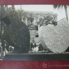 Postales: ALICANTE - HOGUERAS DE SAN JUAN, UNA CARROZA - POSTAL FOTOGRAFICA. Lote 30718924