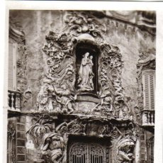 Postales: TARJETA POSTAL VALENCIA, PORTADA DEL PALACIO DEL MARQUES DOS AGUAS, FOTO DURA. Lote 30854944