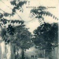 Postales: NOVELDA (ALICANTE).- AVENIDA CANALEJAS..- EDIC. DANIEL BELTRÁ-NOVELDA.. Lote 30849998