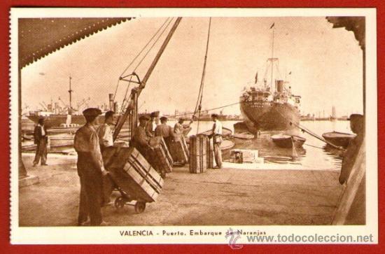 Antigua tarjeta postal puerto de valencia em comprar for Fotos antiguas de valencia