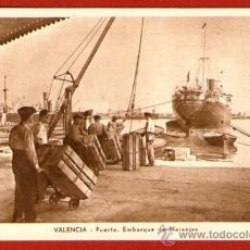 Postales: ANTIGUA TARJETA POSTAL: PUERTO DE VALENCIA - EMBARQUE DE NARANJAS - SIN USAR. Lote 31054226