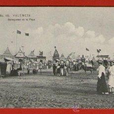 Postales: ANTIGUA POSTAL: BARRAQUETAS EN LA PLAYA MALVARROSA - VALENCIA Nº 48 - SIN USAR - PRINCIPIO SIGLO XX. Lote 31168570