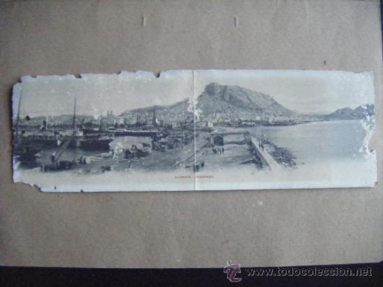 POSTAL. ALICANTE - PANORAMA. PANORAMICA ALICANTE. IMPRESOS TARGETA POSTAL. ANTIGUA. (Postales - España - Comunidad Valenciana Antigua (hasta 1939))