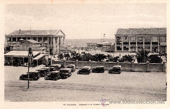 VALENCIA, BALNEARIO LAS ARENAS, ENTRADA, L.ROISIN, NO CIRCULADA (Postales - España - Comunidad Valenciana Antigua (hasta 1939))